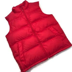 Lands' End Men's Goose Down Puffer Vest Sz L